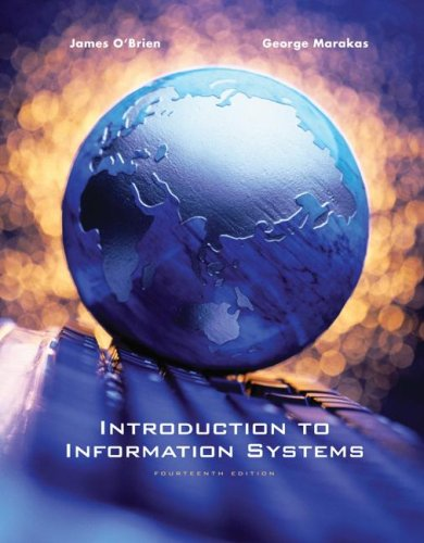 Introduction to Information Systems  14th 2008 9780077240585 Front Cover