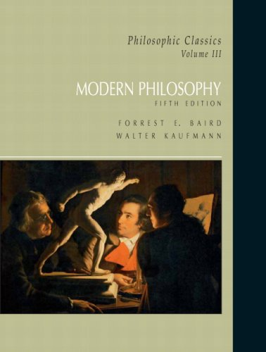 Philosophic Classics, Volume III Modern Philosophy 5th 2008 edition cover