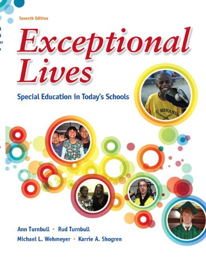 Exceptional Lives Special Education in Today's Schools 7th 2013 edition cover