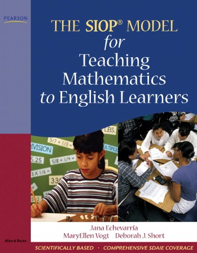 SIOP Model for Teaching Mathematics to English Learners   2010 edition cover