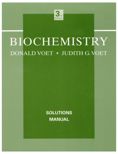 Biochemistry, Solutions Manual  3rd 2004 (Revised) 9780471468585 Front Cover