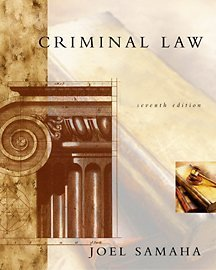 Criminal Law 7th 2002 edition cover