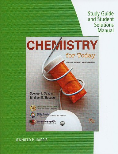 Chemistry for Today  7th 2011 (Student Manual, Study Guide, etc.) edition cover