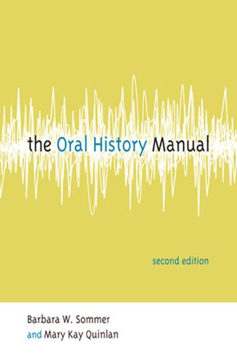 Oral History Manual  2nd 2009 (Revised) edition cover