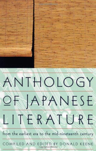 Anthology of Japanese Literature From the Earliest Era to the Mid-Nineteenth Century  1955 edition cover