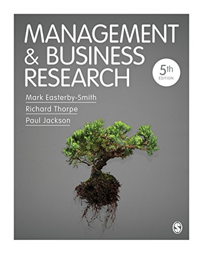 Management and Business Research  5th 2015 edition cover