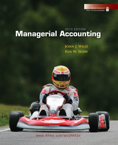 Managerial Accounting, 2010 Edition 2nd 2010 edition cover