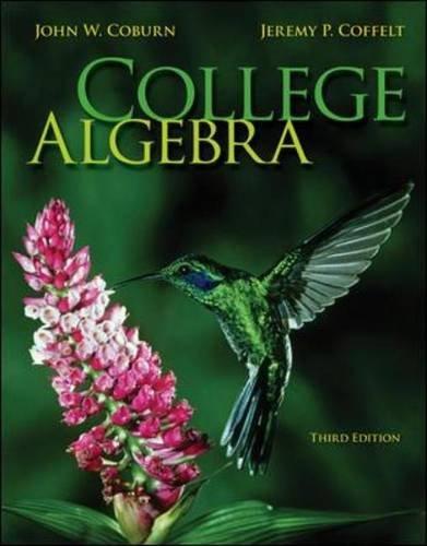 College Algebra  3rd 2014 edition cover