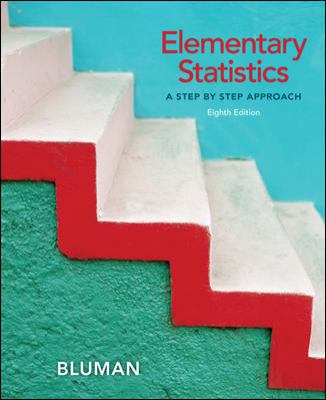 Elementary Statistics A Step by Step Approach 8th 2012 edition cover