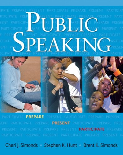 Presenting Ideas Introduction to Public Speaking  2010 9780131945586 Front Cover