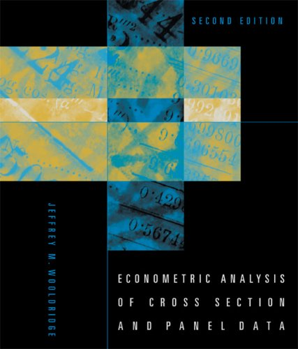 Econometric Analysis of Cross Section and Panel Data  2nd 2007 edition cover