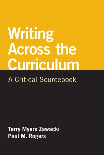 Writing Across the Curriculum A Critical Sourcebook N/A 9780312652586 Front Cover