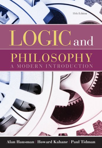 Logic and Philosophy A Modern Introduction 11th 2010 edition cover