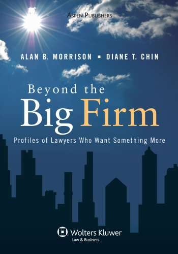 Beyond the Big Firm Profiles of Lawyers Who Want Something More  2007 (Student Manual, Study Guide, etc.) edition cover