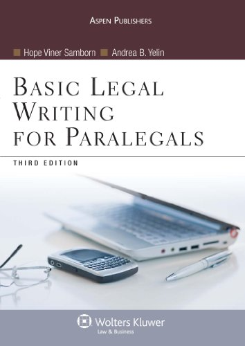 Basic Legal Writing for Paralegals, Third Edition  3rd 2009 (Revised) edition cover