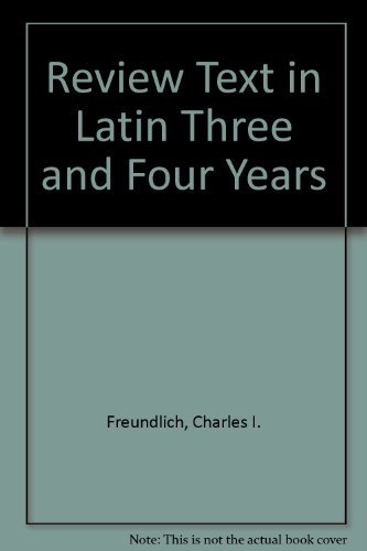 Review Text in Latin Third and Fourth Years 1st edition cover