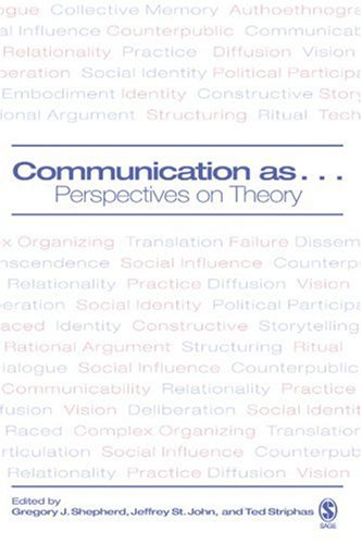 Communication As... Perspectives on Theory  2006 edition cover