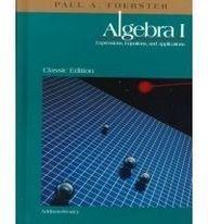 Algebra I  1999 (Student Manual, Study Guide, etc.) edition cover