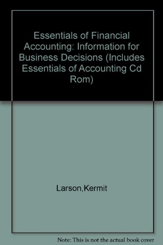 Essentials of Financial Accounting  7th 1997 (Revised) 9780256270587 Front Cover