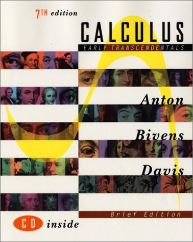 Calculus, Early Transcendentals  7th 2002 (Brief Edition) edition cover