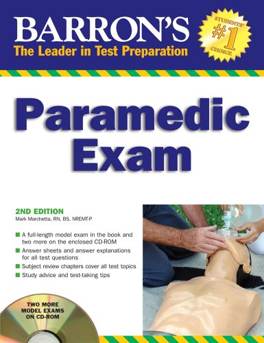 Barron's Paramedic Exam The Leader in Test Preperation 2nd 2008 (Revised) edition cover