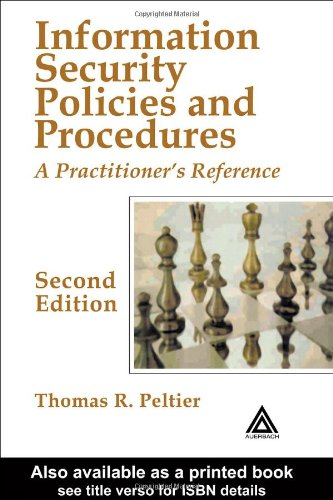Information Security Policies and Procedures A Practitioner's Reference 2nd 2004 (Revised) edition cover