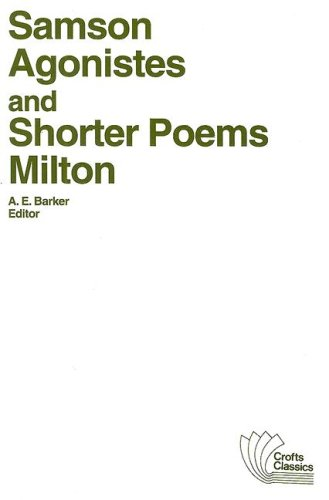 Samson Agonistes and Shorter Poems   1950 edition cover