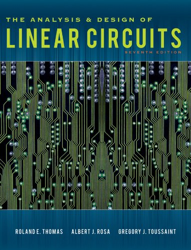 Analysis and Design of Linear Circuits  7th 2012 edition cover