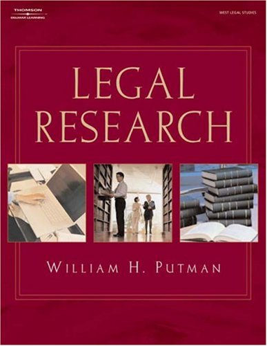 Legal Research   2006 9781401879587 Front Cover