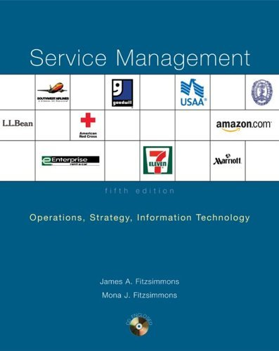 Service Management Operations, Strategy, Information Technology with Student CD 5th 2006 edition cover