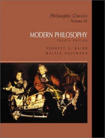 Philosophic Classics Modern Philosophy 4th 2003 edition cover