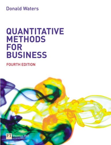 Quantitative Methods for Business  4th 2008 9780273694588 Front Cover
