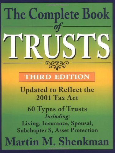 Complete Book of Trusts  3rd 2002 (Revised) edition cover