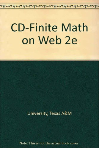 Finite Math on the Web 2. 0  2nd 2005 9780534997588 Front Cover