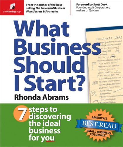 What Business Should I Start? 7 Steps to Discovering the Ideal Business for You  2004 edition cover