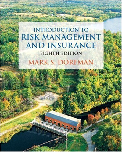 Introduction to Risk Management and Insurance  8th 2005 (Revised) edition cover