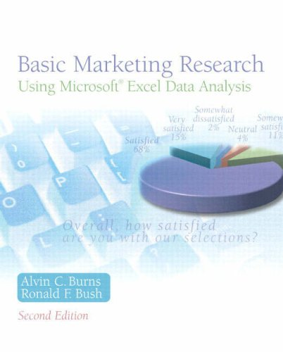 Basic Marketing Research Using Microsoft Excel Data Analysis 2nd 2008 edition cover