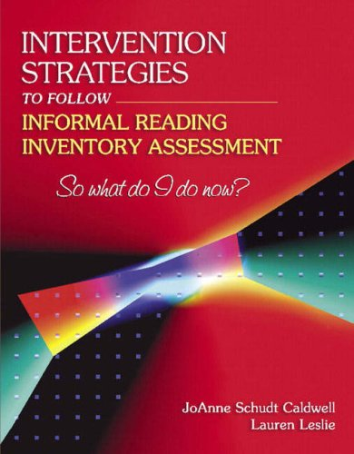 Intervention Strategies to Follow Informal Reading Inventory Assessment So What Do I Do Now?  2005 edition cover
