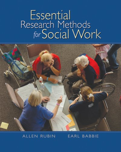 Essential Research Methods for Social Work   2007 edition cover