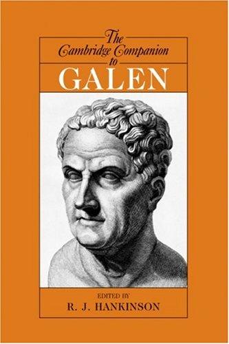 Cambridge Companion to Galen   2008 9780521525589 Front Cover