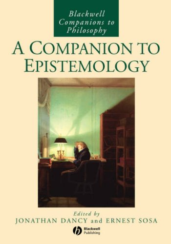 Companion to Epistemology  2nd 1994 edition cover