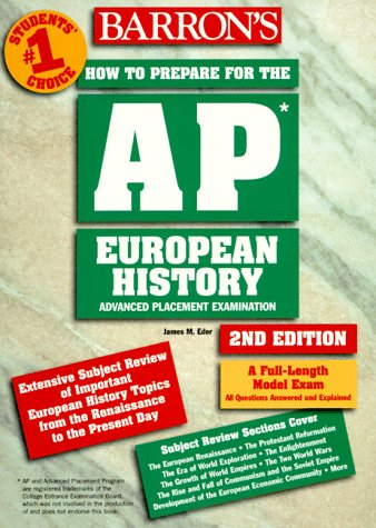 How to Prepare for the Advanced Placement Test - AP European History 2nd 1998 (Revised) 9780764104589 Front Cover