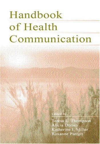 Handbook of Health Communication   2003 edition cover