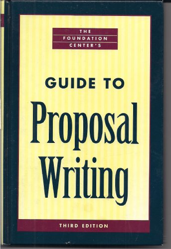 Foundation Center's Guide to Proposal Writing 3rd 2001 edition cover