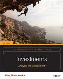 Investments Analysis and Management 13th 2015 9781118975589 Front Cover