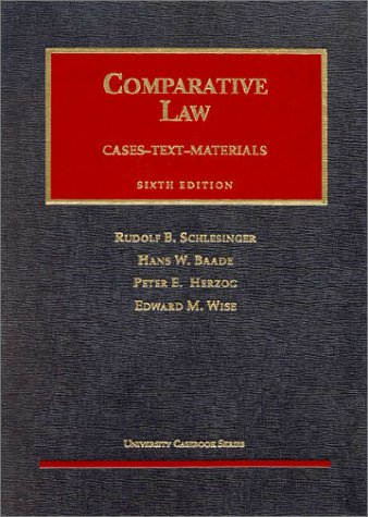 Comparative Law  6th 1998 (Revised) edition cover