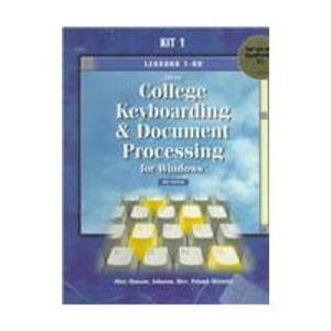 Gregg College Keyboarding & Document Processing for Windows: Lessons 1-60 for Use With Wordperfect 6.1  1999 edition cover