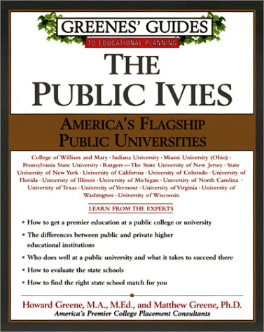 Public Ivies   2001 9780060934590 Front Cover