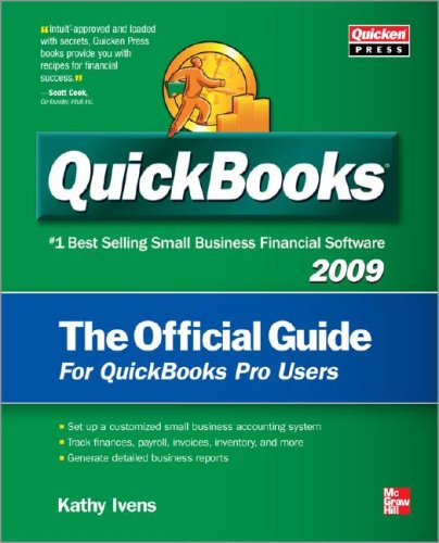 QuickBooks 2009 the Official Guide   2009 9780071598590 Front Cover