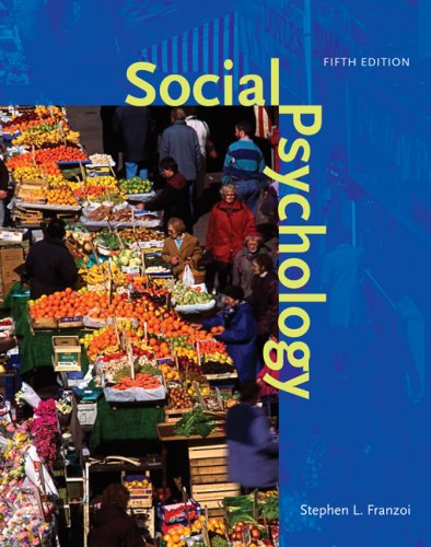 Social Psychology 5th 2009 edition cover